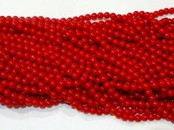 Бусины цв. красный D 8 мм. (100 шт.)