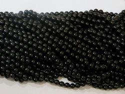 Бусины цв. черный D 10 мм. (50 шт.)
