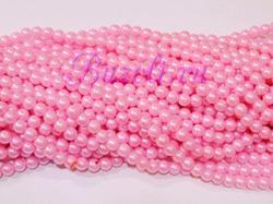 Бусины цв. светло-розовый жемчуг D 8 мм. (100 шт.)