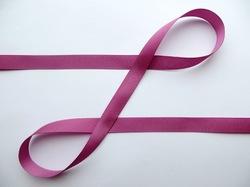 Репсовая лента цв. пурпурно-сиреневый 12 мм.