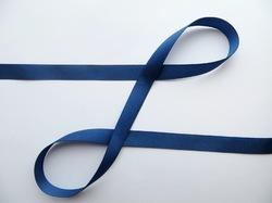 Репсовая лента цв. синий 12 мм.