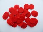Фетровые кружочки цв. красный D25 мм.