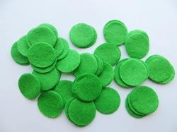 Фетровые кружочки цв. зеленый D25 мм.