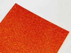Фоамиран с глиттером цв. оранжевый