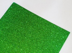 Фоамиран с глиттером цв. зеленый