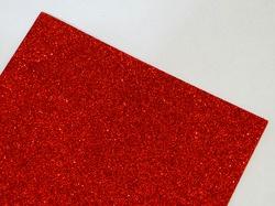 Фоамиран с глиттером цв. красный