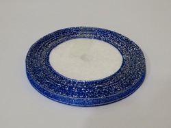 Металлизированная лента цв. синий 6 мм.
