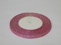 Металлизированная лента цв. розовый 6 мм.