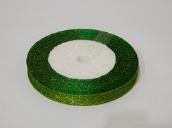 Металлизированная лента цв. зеленый 10 мм.
