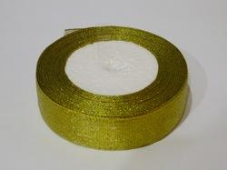 Металлизированная лента цв. золото 25 мм.