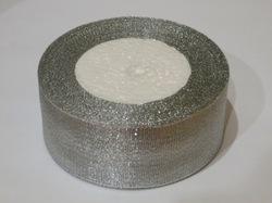 Металлизированная лента цв. серебро 40 мм.(1м.)