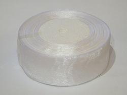Лента из органзы цв. белый 40 мм.(5м.)