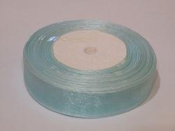 Лента из органзы цв. светло-голубой 25 мм.(5м.)