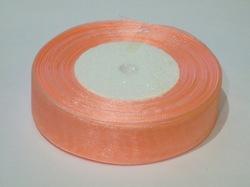 Лента из органзы цв. персиковый 25 мм.(5м.)