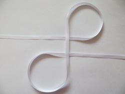 Репсовая лента цв. белый 6 мм. (5 м.)