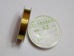 Проволока цв. золото 0,3 мм.