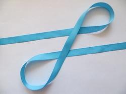Репсовая лента цв. голубой 12 мм.