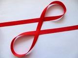 Репсовая лента цв. красный 12 мм.