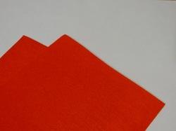 Фетр средней жесткости цв. морковный