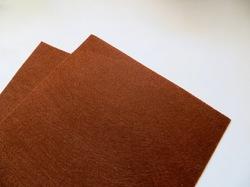 Фетр средней жесткости цв. медно-коричневый