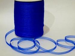 Лента из органзы цв. синий 6,5 мм.(5м.)