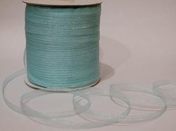 Лента из органзы цв. светло-голубой 6,5 мм.(5м.)
