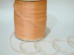 Лента из органзы цв. персиковый 6,5 мм.(5м.)
