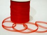 Лента из органзы цв. красный 6,5 мм.(5 м.)