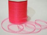 Лента из органзы цв. розовый 6,5 мм.(5м.)