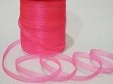 Лента из органзы цв. розовый 10 мм.(5м.)
