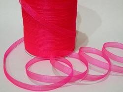 Лента из органзы цв. ярко-розовый 10 мм.(5м.)