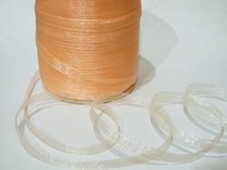 Лента из органзы цв. персиковый 10 мм.(5м.)