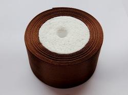 Атласная лента цв. коричневый 50 мм.(1 м.)