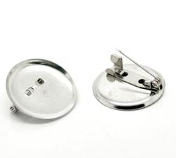 Основа для броши круглая D 25 мм